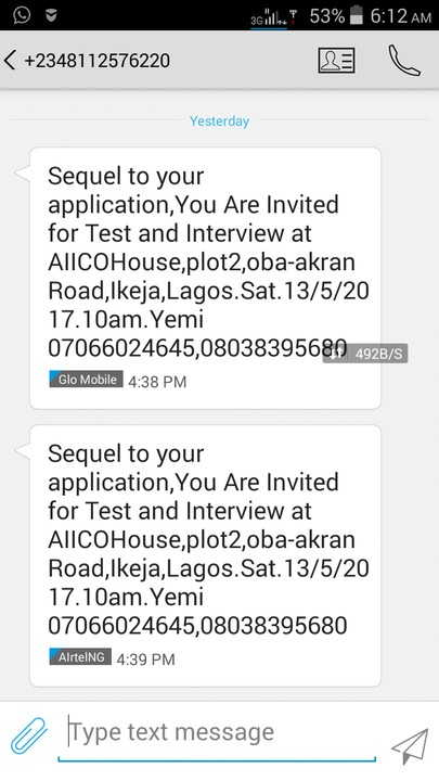 Aiico test and interview invitation jobsvacancies nigeria 1 like stopboris Choice Image