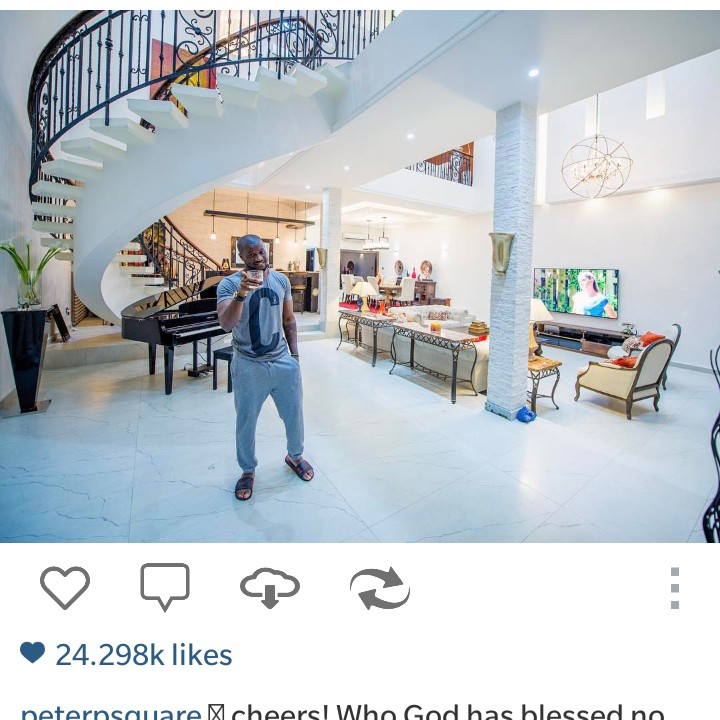 Peter Okoye Shows Off His Sitting Room