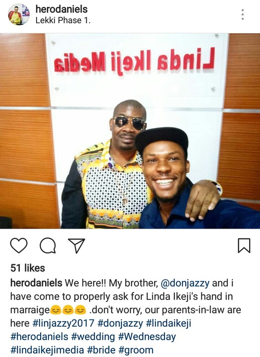 Don Jazzy At Linda Ikeji Media. Has He Gone To Propose To Her?
