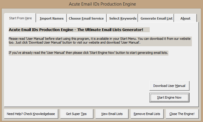 Get Generate Unlimited Email List - Acute Email Ids Production