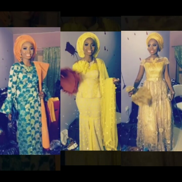 Photos & video: Ghanaian Bride trends after wearing 20 outfits for her 2 days wedding