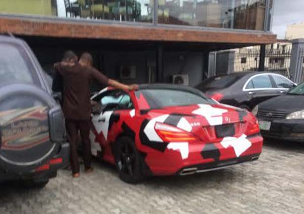 See Shina Peller's Camo Benz SL550 41st Birthday Gift (Photos)