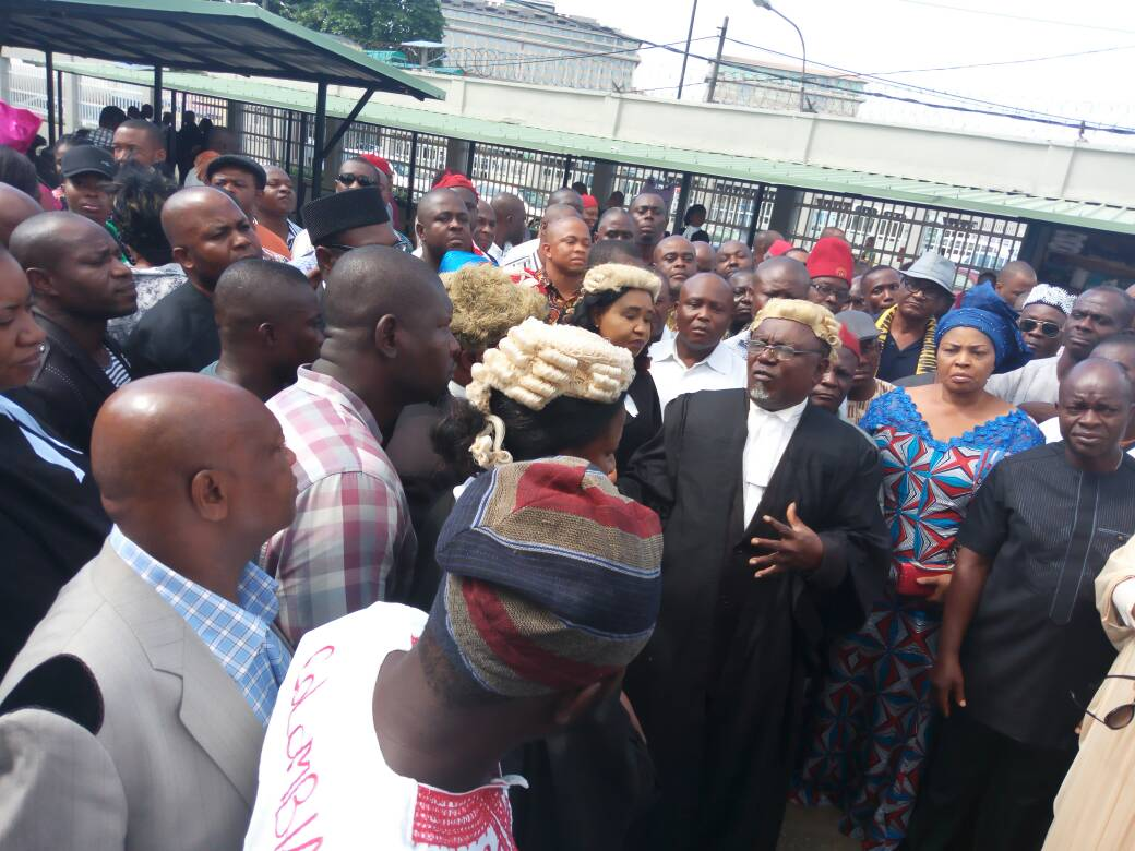 Protest As DSS Failed To Provide Ifeanyi Ubah In Court