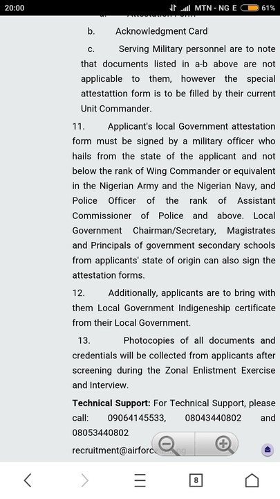 Attestation form attestation form free download with regard to nigerian air force dssc enlistment jobsvacancies nigeria stopboris