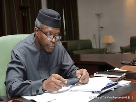 Acting President Osinbajo Signs 3 Executive Orders