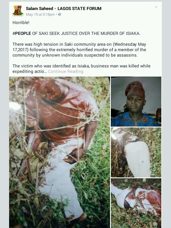 Businessman Beheaded On His Way To Osun State (Graphic Photos) 5350103_20170520110639_jpegc4667555e4c6c2af54b73dfe2e00665c