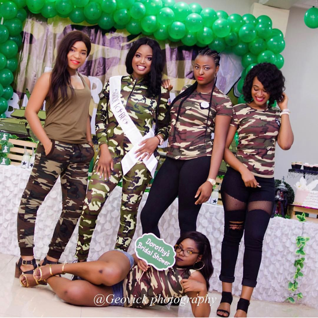 "Nigerian Wedding Party: ""Camo Themed"" Bridal Party Of A Nigerian Lady (Photos"