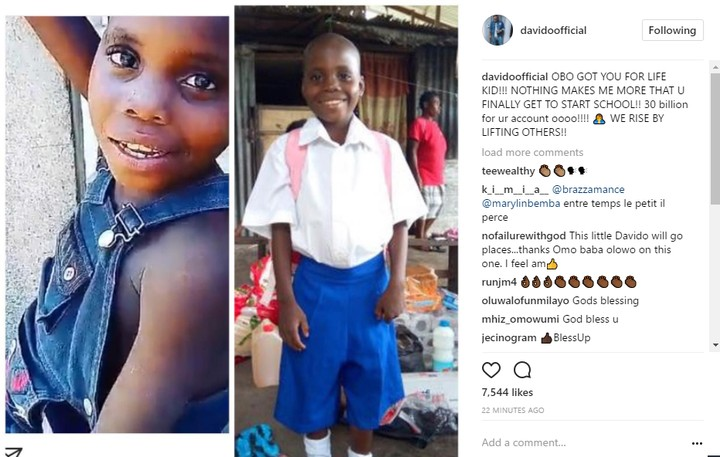 Power Of Social Media: Davido Sends 7 Year Boy Whose 'IF' Cover Went Viral Back To School ( Watch)