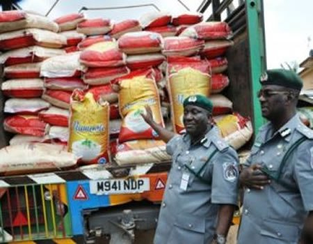 Image result for Customs seizes smuggled rice worth $64,000 in Port Harcourt