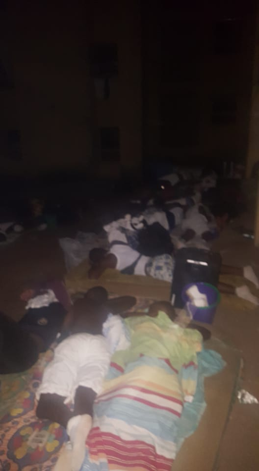 FUTURE LEADERS! Corpers Sleep Outside As Lagos NYSC Camp Becomes Overcrowded (Photos)