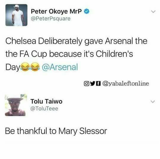 Peter Okoye Mocked Arsenal FA Cup Win And Got This Reply