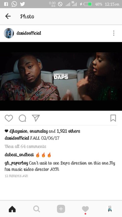 Davido sets to release new single fall few days from now video source httpjmedia201705davido sets to release new single fallmlm1 ccuart Gallery