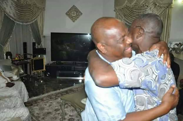 Burying The Hatchet: Governor Of Rivers State Nyesom Wike And Benue State Samuel Ortom Settle (photos)