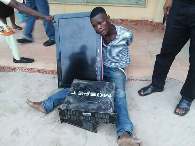 Men Break Into A Church In Delta To Steal Plasma TV & Other Valuables (Photos)