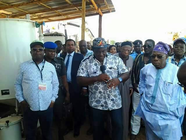 Umahi Storms Benue With Obasanjo On Bid To Boost Food Production (Pics)