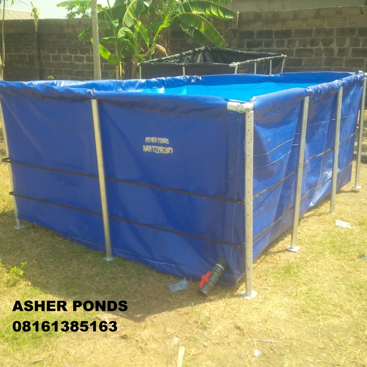 My mobile fish ponds and tank remedy agriculture nigeria for Tarpaulin fish pond