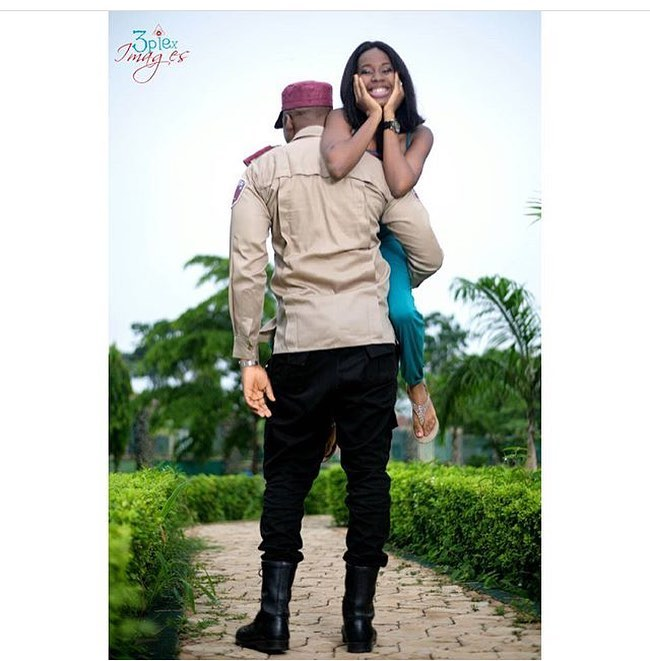 FRSC Officer And Fiancee Got People Talking With Their Pre-Wedding Photos