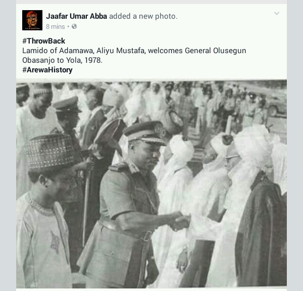 Obasanjo Being Welcomed To Yola In 1978 By Lamido Of Adamawa (Throwback Photo )