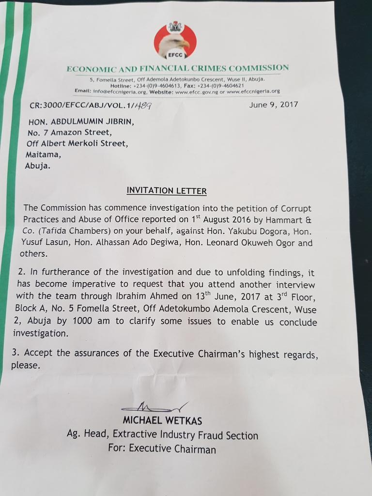 Efcc invites abdulmumin jibrin over budget padding photo efcc invites abdulmumin jibrin over budget padding photo politics nigeria stopboris