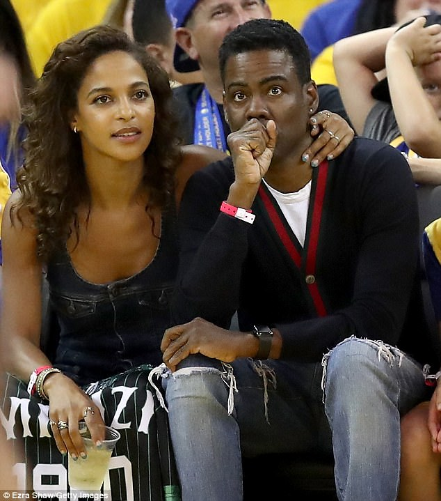 US Comedian, Chris Rock Steps Out With His Nigerian New Girlfriend For The NBA Finals