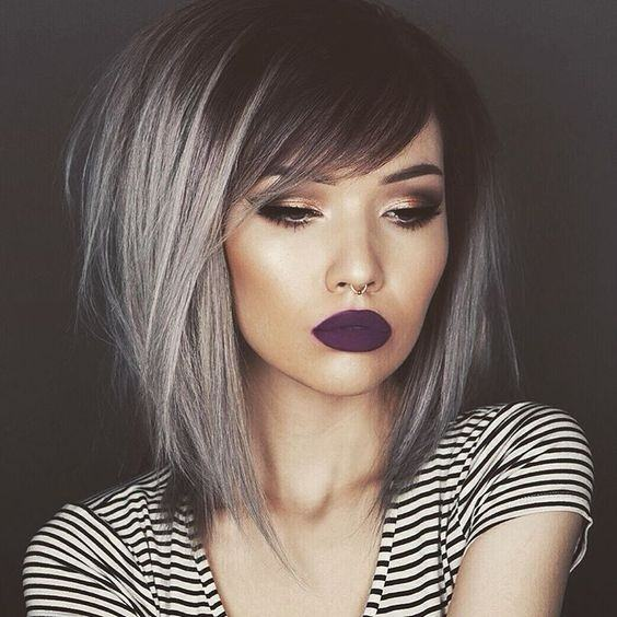 The Modern Trends Have Guided Them To Absolutely Not Dyeing Hair Whenever They Start Going Silver However Young Women With Dark Brunette Color Also Love