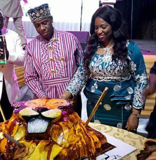 Rotimi Amaechi's 52nd Birthday Cake Is Lion-Like (Photos)