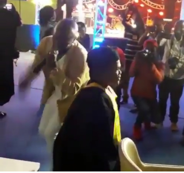 Too Much Sauce! Osita Iheme Dancing On Stage With Over-sized Ladies In Rwanda (Photos)