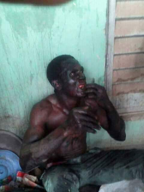 Badoo Member Caught In Ogun State, Beaten To Pulp By Mob (Photos)