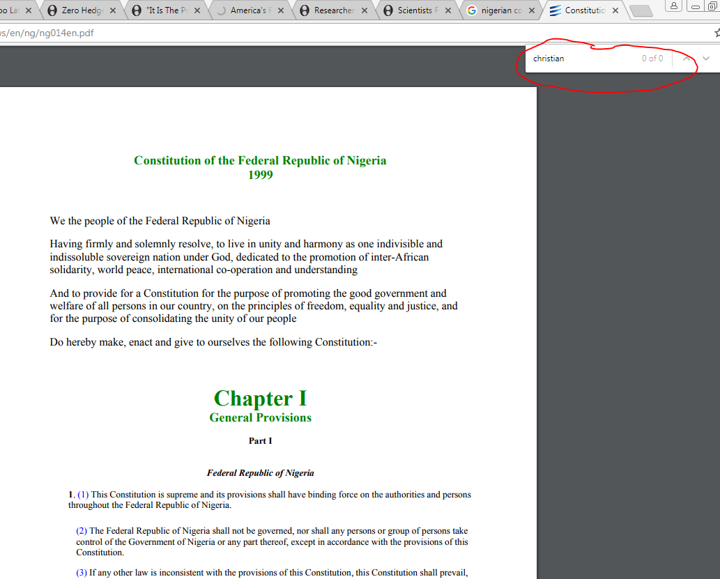 The Nigerian Constitution Pdf