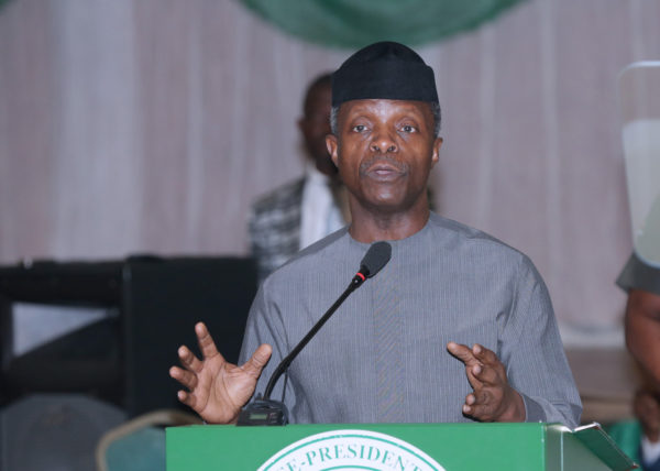 """Pay Your Tax Or Face Criminal Prosecution, Up To 5-years Jail Term"" – Osinbajo"