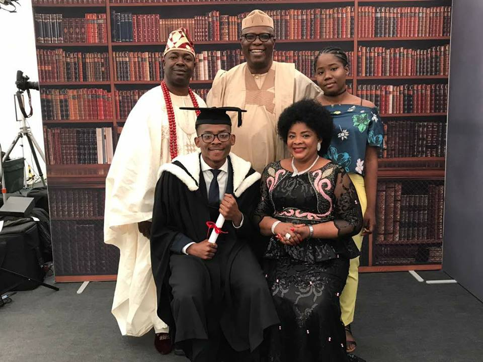 CONGRATULATIONS!! 20-year-old Son Of Buhari's Aide Graduates With First Class From The UK (Photos)