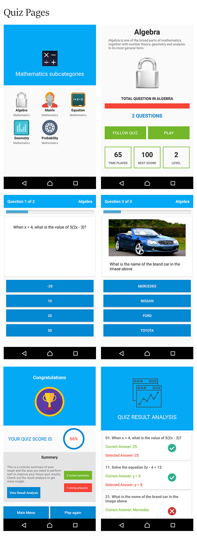 Android Quiz App With Php And MYSQL Database - Programming