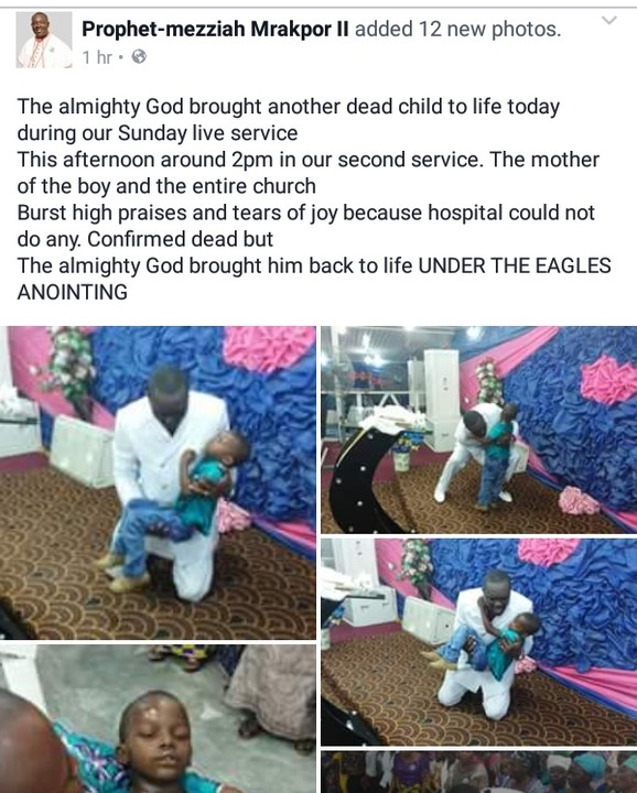 Pastor brings dead Child back to life