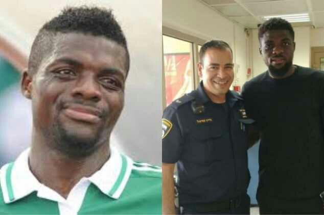 Nigerian Footballer, John Ogu, Arrested For Drink-Driving [Photo]