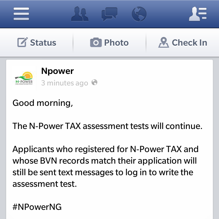 Breaking: N-Power Tests Has Not Ended, To Continue Today!
