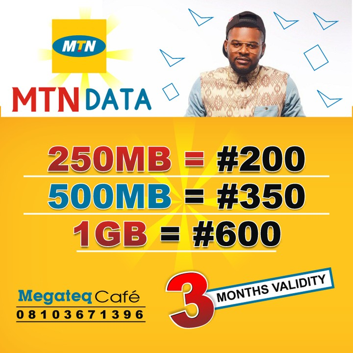 Mtn 250mb @ N200, 500mb @ N350 : 3 Months Validity - Technology