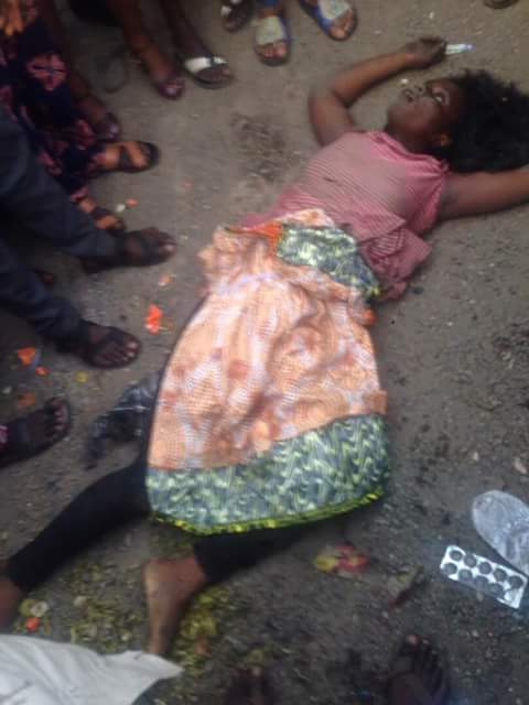 PHOTOS: Trailer Break fails, Hits Woman In Oshodi