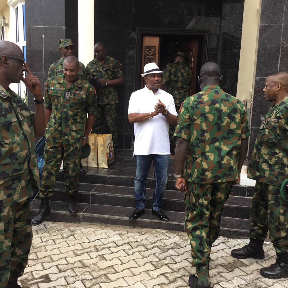chief Of Army Staff Visit Gov-obiano At His Home Town