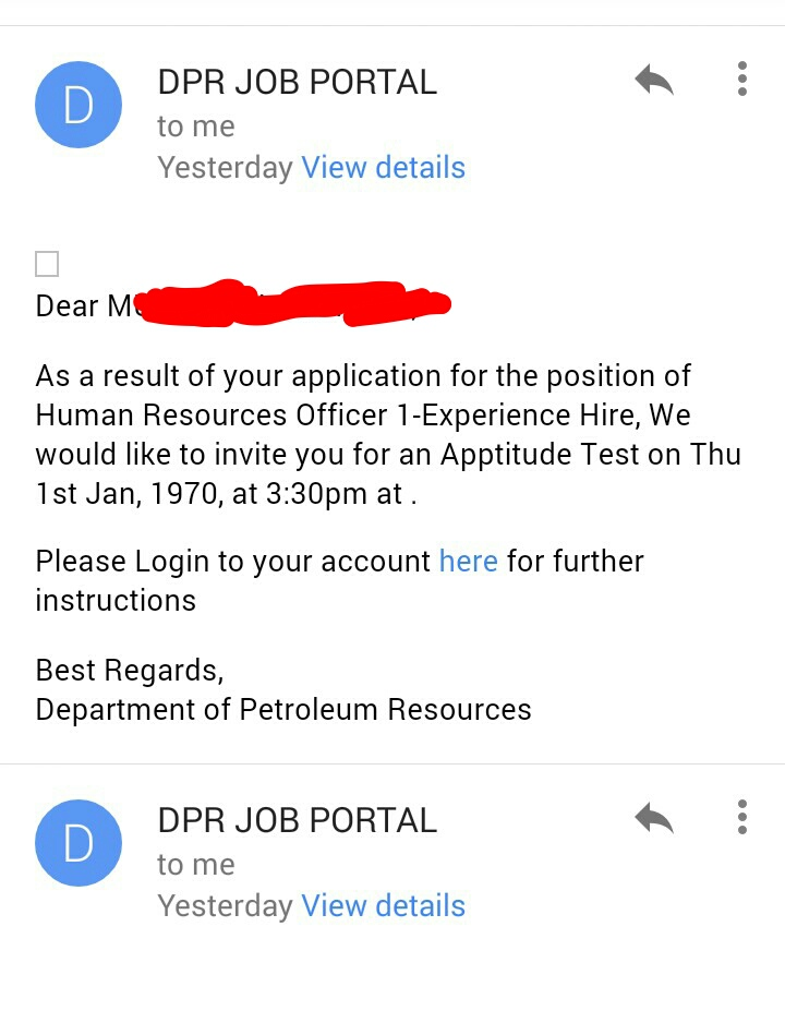 Got email invitation for dpr aptitude testpic who else got got email invitation for dpr aptitude testpic who else got jobsvacancies nigeria stopboris