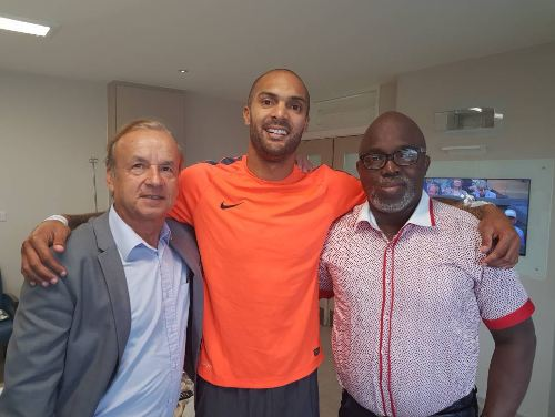 NFF President Pinnick And Gernot Rohr Visit Ikeme In London (Photo)