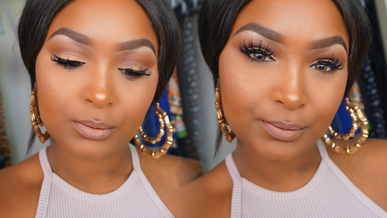 Download tutorial video how to do a soft glam makeup for brown download tutorial video how to do a soft glam makeup for browndark skin fashion nigeria baditri Image collections