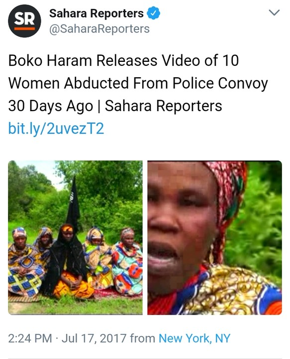 {filename}-Boko Haram Release Video Of 10 Women Abducted From Police Convoy In Borno (photo)