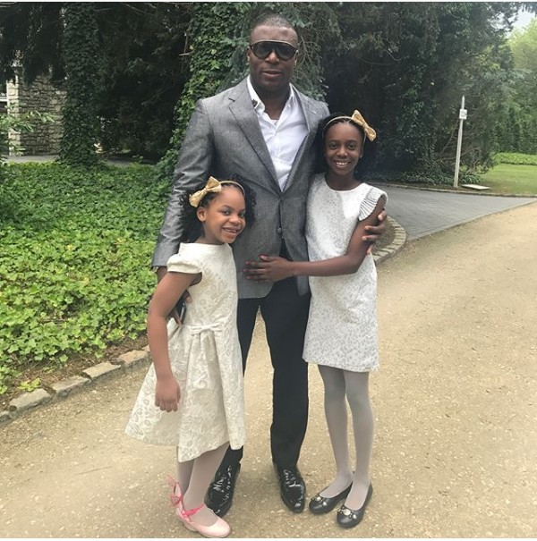 Adorable Photos Of Ex-Super Eagles Striker, Yakubu Aiyegbeni With His Daughters