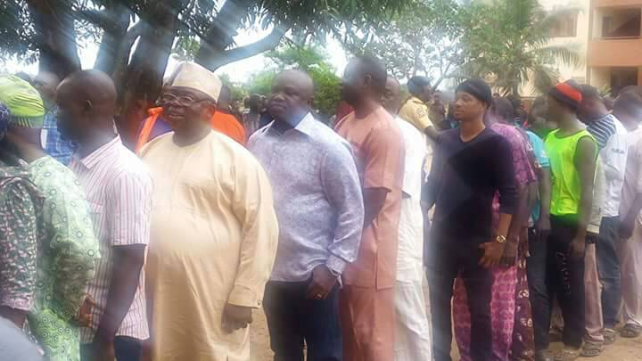 Ambode Queues To Vote In Epe At Lagos LG Election
