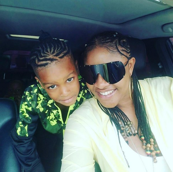 Swag Queen & Swag Kid: Actress Angela Okorie & Her Son Rock Braided Hairstyle