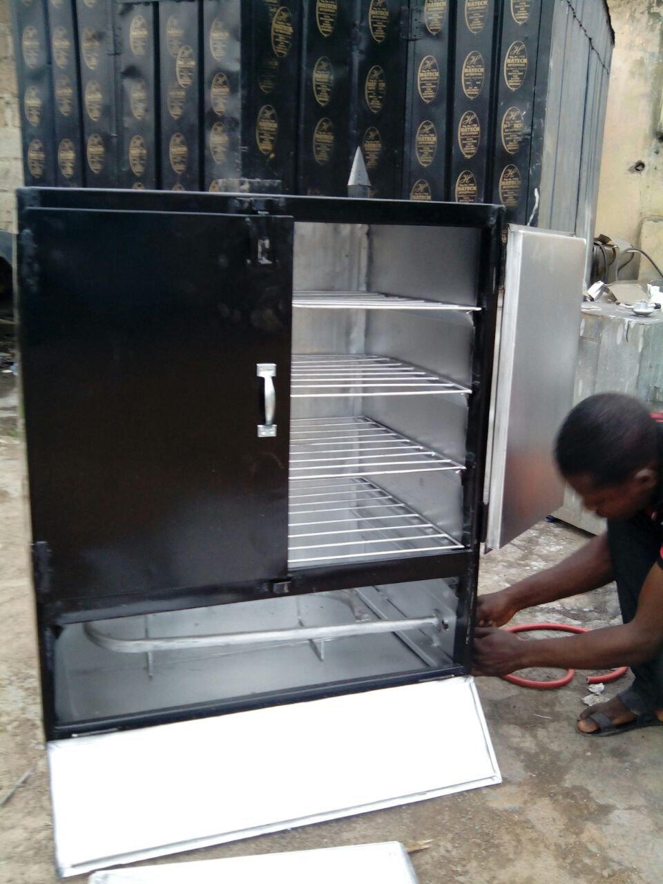 Locally Made Gas Charcoal Oven For Smoking Fish And For