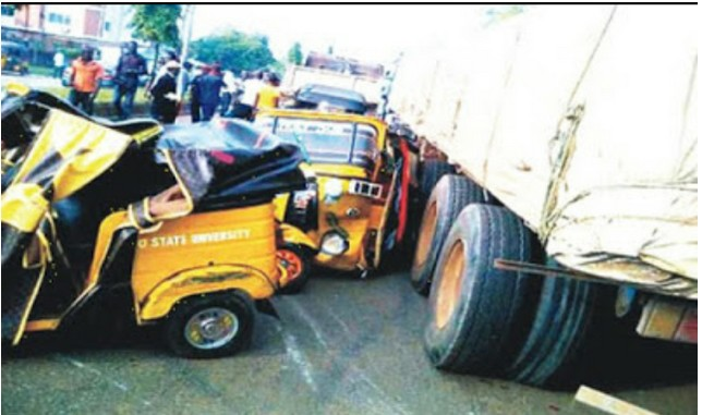 Fatal Accident Between Truck And Keke Leaves Two Dead In Imo State (Photos)