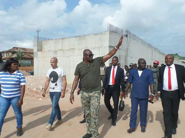 Fayose Wears Military Outfit To Supervise Projects In Ekiti(photos)