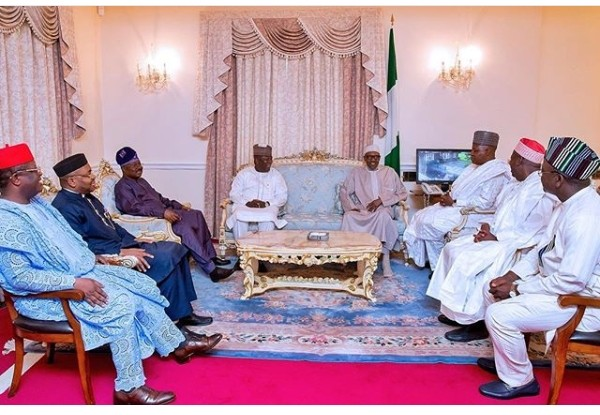 Akwa Ibom Governor, Emmanuel Udom with Other PDP and APC Governors That Visited President Buhari In London (Photos)