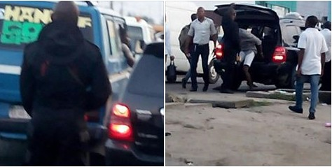 IPOB Members Bundled Into The Boot Of A Car By Anti-Cult In Port-Harcourt (Photos)